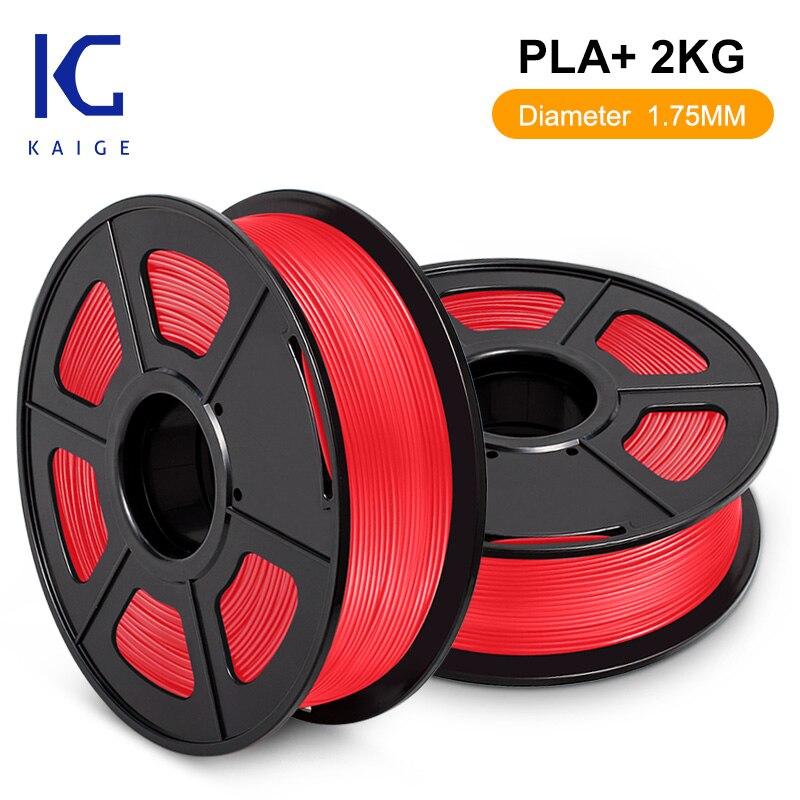 KAIGE-filamento PLA PLUS para bolígrafo 3D, 2KG, 1,75mm, sin burbujas, Color brillante,...