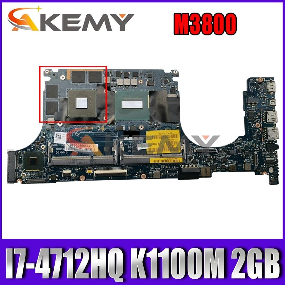 Akemy I7-4712HQ K1100M 2GB لديل الدقة M3800 اللوحة المحمول VAUB0 LA-9941P CN-097F45 97F45 اللوحة 100% اختبار