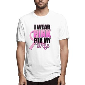 I Wear Pink For My Wife ($21.95) Graphic Tee Men's Short Sleeve T-shirt Funny Tops