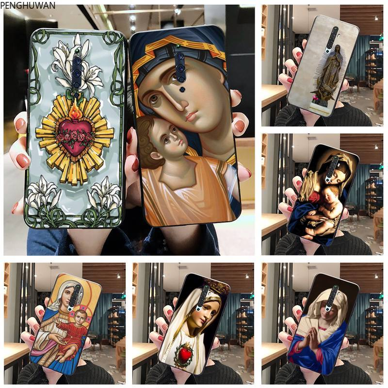 Virgen María cristiana Navidad personalizado suave teléfono caso para Oppo A5 A9 2020 Reno2 z Renoace 3pro Realme5Pro