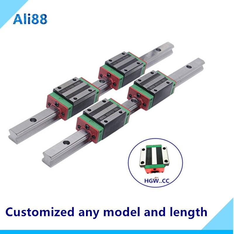 Carril lineal de 20mm HGR20 700/750/800/850mm y deslizador de rodamiento lineal HGH20CA/HGW20CC, tornillo de bola, guía lineal, piezas cnc