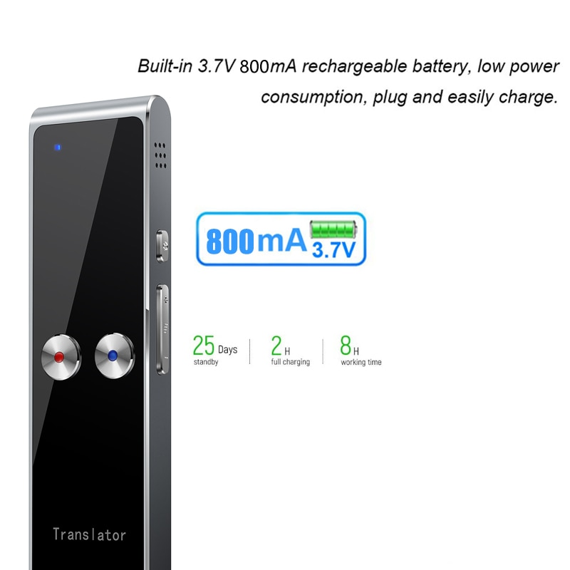 Upgraded T8 Voice Translator for 68 languages Japanese Russian French Spanish English Pocket Instant Text Translator BT 4.2 T8+ enlarge