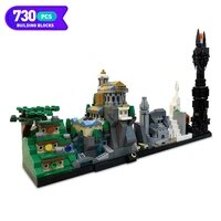 city magic castles series bricks movie collection castle skyline architecture model building blocks toys for boy education toys