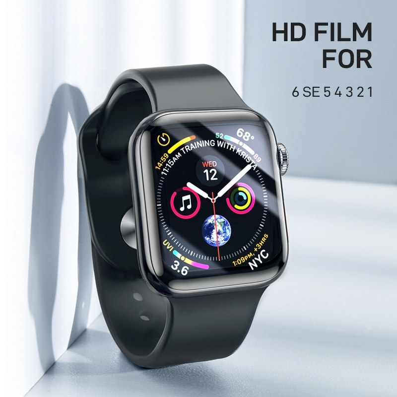 soft glass protector for apple watch series 6 se 5 4 40mm 44mm hydraulic anti fingerprint film for apple iwatch 3 2 1 38mm 42mm HD Film For Apple Watch Screen Protector 44mm 40mm 42mm 38mm (Not tempered Glass) iWatch Protector Apple watch series 3 4 5 6 se