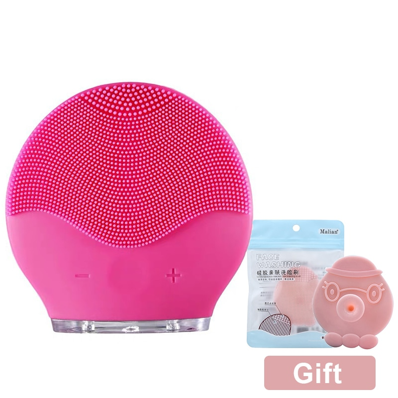Facial Cleansing Brush Silicone Shrinking Pores Oil-control Electric Cleansing Instrument Electric Face Cleansing Brush aesop primrose facial cleansing masque