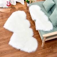 bubble kiss fluffy heart rug fur carpets for living room home decor bedroom kid room floor mat salon decorationthicker pile rug