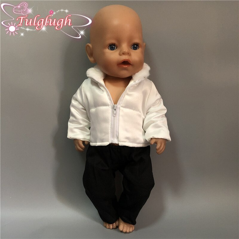 White Jacket Suit Fit American Girl Doll Clothes 18-inch Doll,43cm baby Doll Clothes Christmas Girl