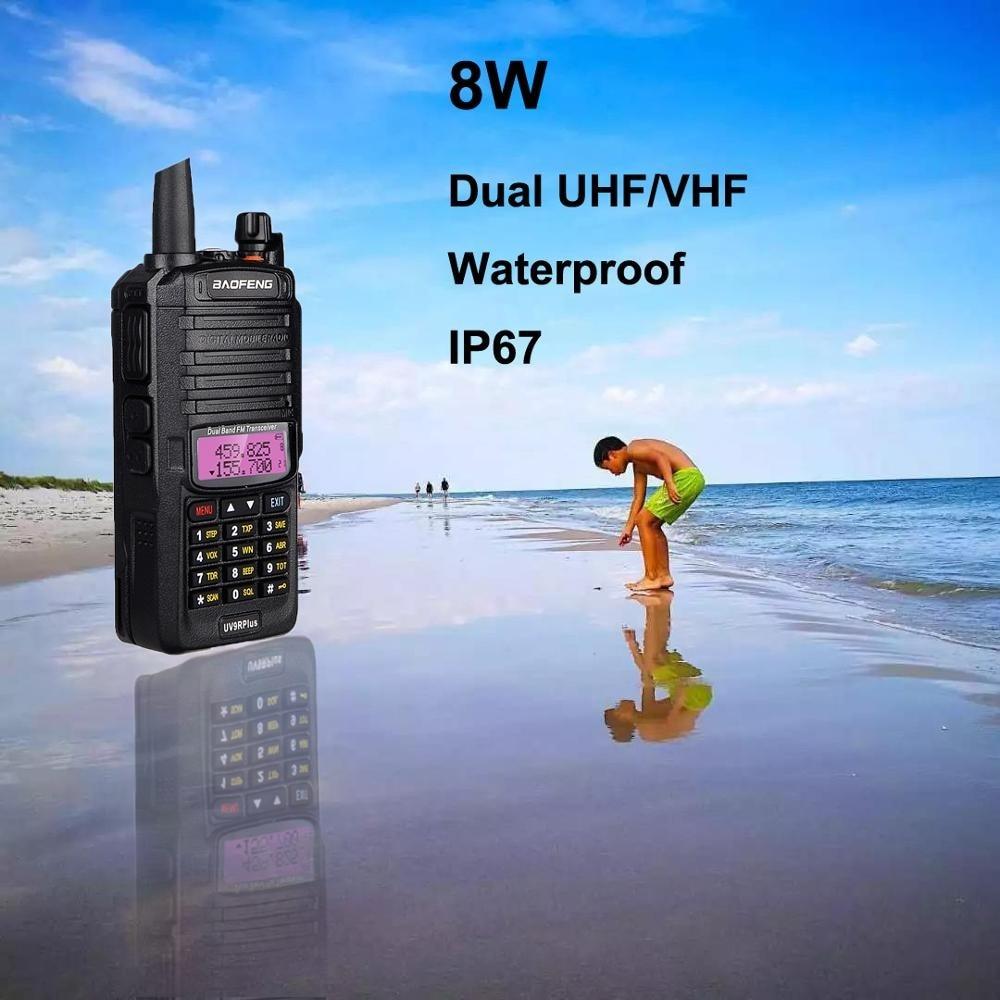 100% Original baofeng uv9r+ walkie talki dual band radio waterproof walkie talkie communications amateur vhf uhf marin radio ham