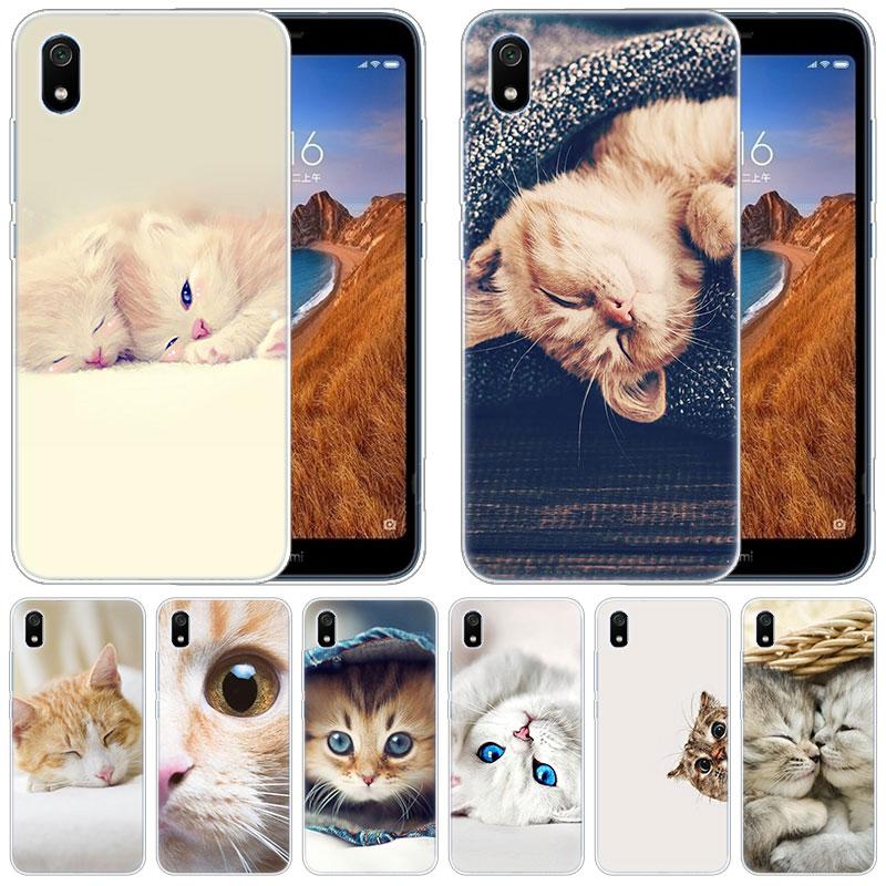 Роскошный мягкий силиконовый чехол спящий котенок кошка для Xiaomi Redmi K20 Pro 7 7A 6 6A 4X5 плюс S2 GO Note 8 iPhone 7 6 Plus 5 iPad Pro 4 IPad Mini
