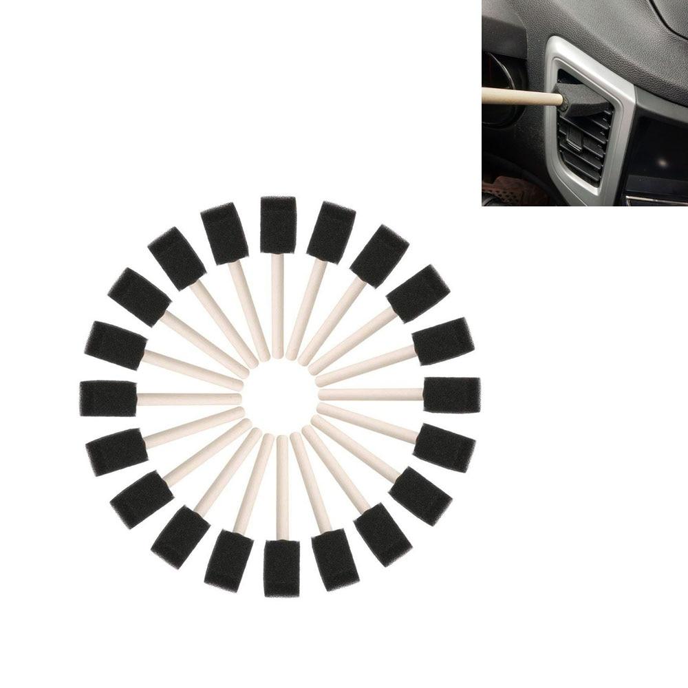 Escova limpadora do ar condicionado do carro, 5 pçs/set, limpador da grade do carro detalhamento automático, persianas, escova de pó, estilização do carro, limpeza automática
