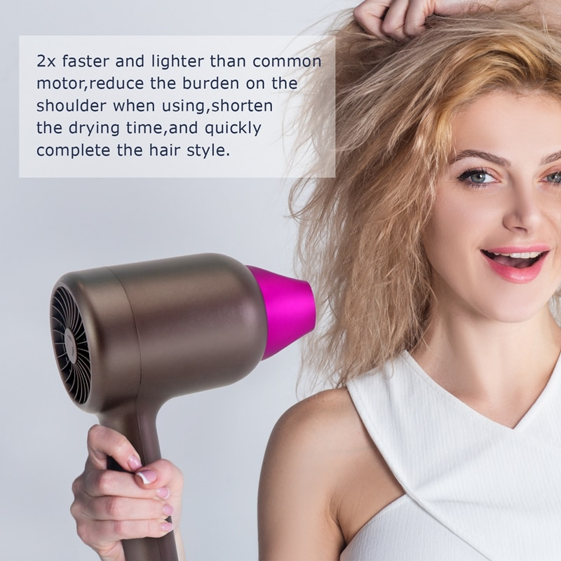 Hair Dryer Strong Wind Salon Dryer Hot &Cold Dry Hair Negative Ionic Electric Hair Dryer For Home Outdoor enlarge