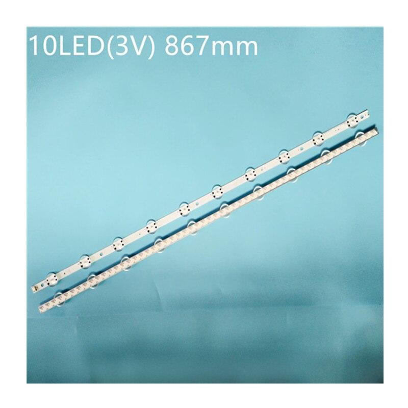 Nova 2 uds 10LED 867 millimetres tira conduzida luz de fundo para...