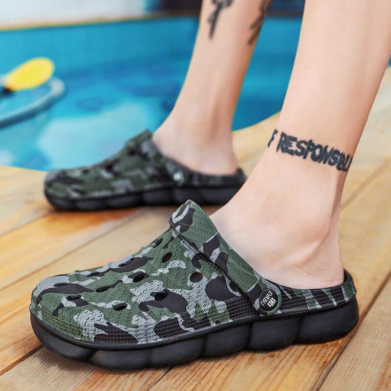 ¡Novedad de 2020! Sandalias Croc de diseñador para hombre, sandalias Unisex de verano para hombre, sandalias de playa EVA Crocse, zapatillas deslizantes