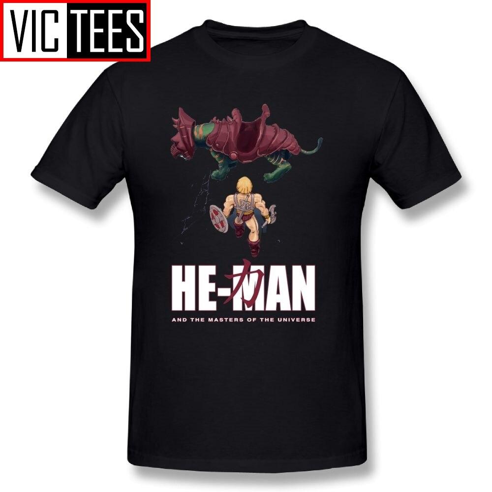 Los hombres de hombre y el Masters de el universo camisetas de Akira manga corta Camisetas de 100% algodón impreso camisetas