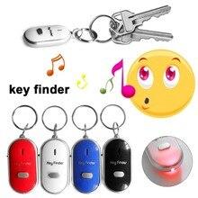LED Whistle Key Finder Blinkt Piepen Sound Control Alarm Anti-Verloren Keyfinder Locator Tracker mit Schlüsselring 4 Farben Für wahl