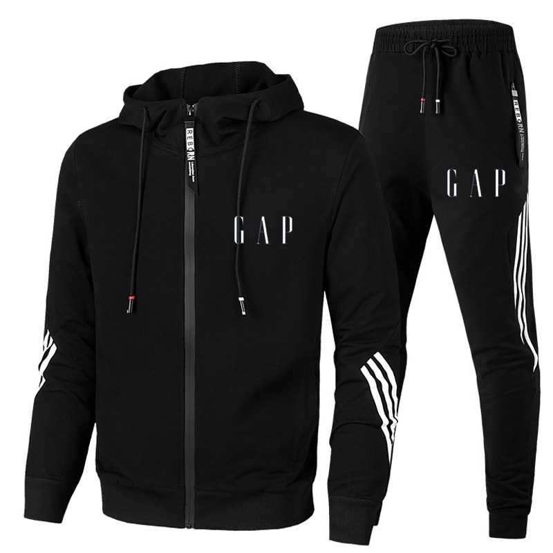 New 2 Pieces Sets Tracksuit G/P Printing Men Hooded Sweatshirt+pants Pullover Hoodie Sportwear Suit Casual Sports Men Clothes