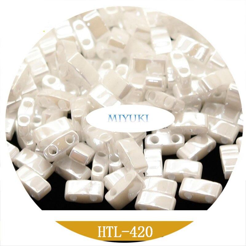 Cuentas de media Tila, HTL, Miyuki de Japón, semillas importadas, Color sólido,...