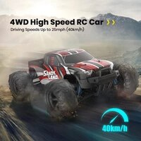 deerc rc car electric 118 scale 30 mph 4wd off road monster trucks all terrain 40kmh high speed racing car toy for children