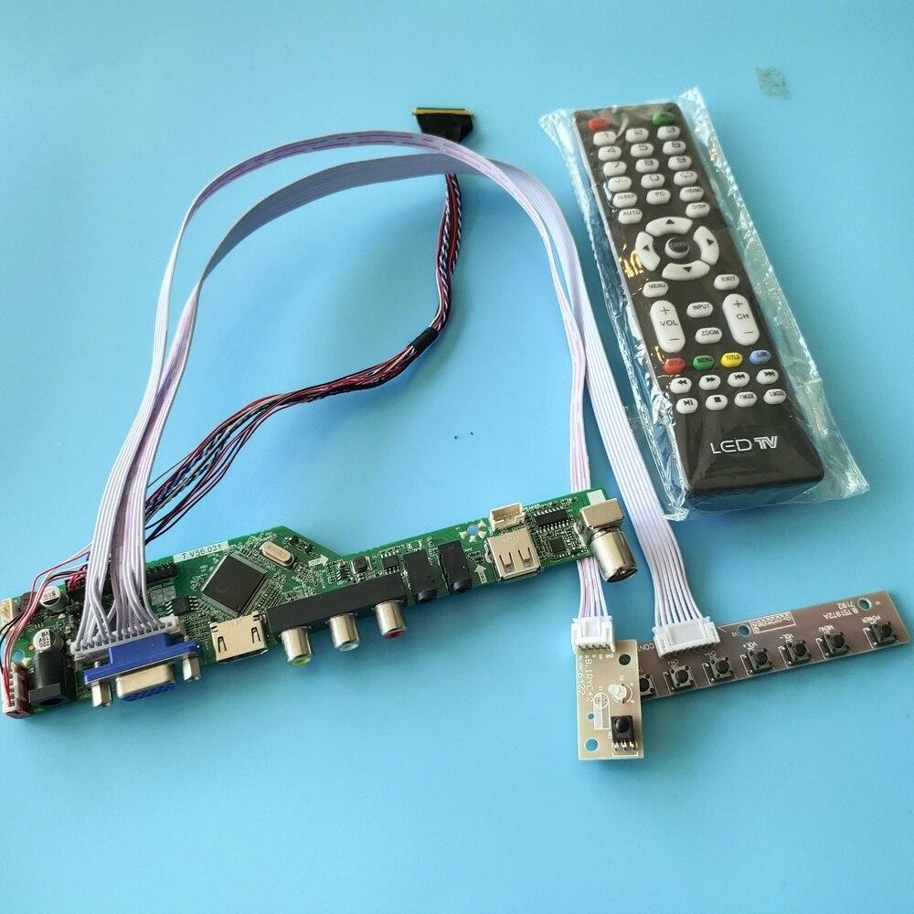 عدة ل LP156WH2(TL)(A1) تحكم لوحة للقيادة VGA البعيد التلفزيون AV LCD LED لوحة الشاشة 40pin LVDS USB 1366X768 15.6