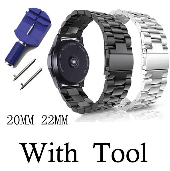 20 мм 22 мм huami amazfit gtr bip ремешок для Samsung Gear S3 s2 sport Classic huawei gt 2 active galaxy watch 42 мм 46 Band 40 44 мм