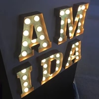 outlet custom retro led signage marquee letter lights shopfront metal marquee letter bar restaurant exterior corrosion resistant
