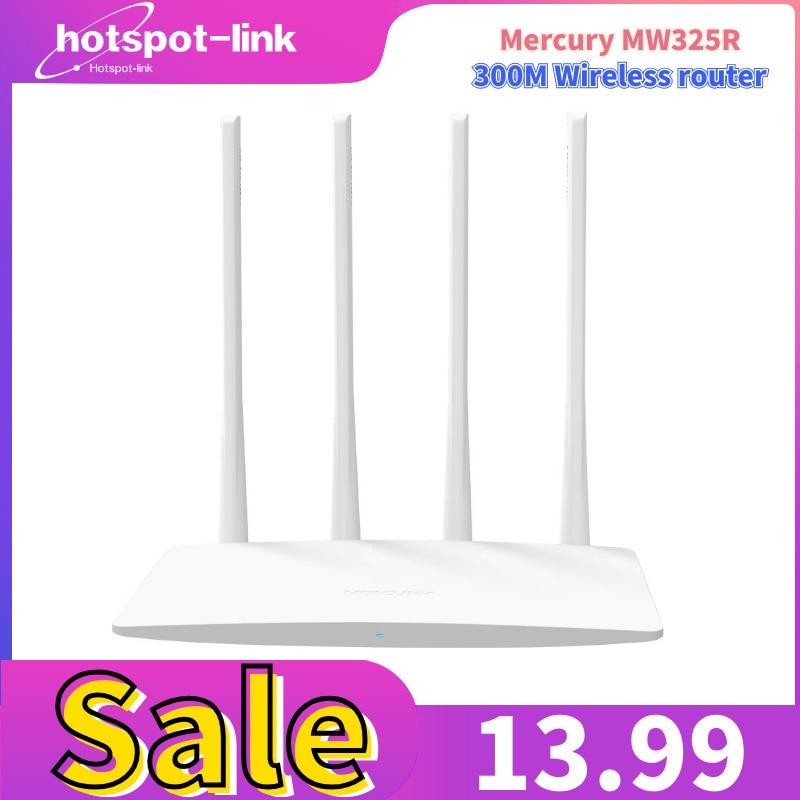 Mercury MW325R router inalámbrico WiFi Banda ancha ipv6 alta velocidad 300Mbps 2,4G 802,11 b/g/n 4 antenas repetidor de banda APP Control