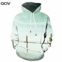 qciv brank christmas sweatshirts men snowman 3d printed trees hoodie print painting hooded casual unisex funny winter pocket man