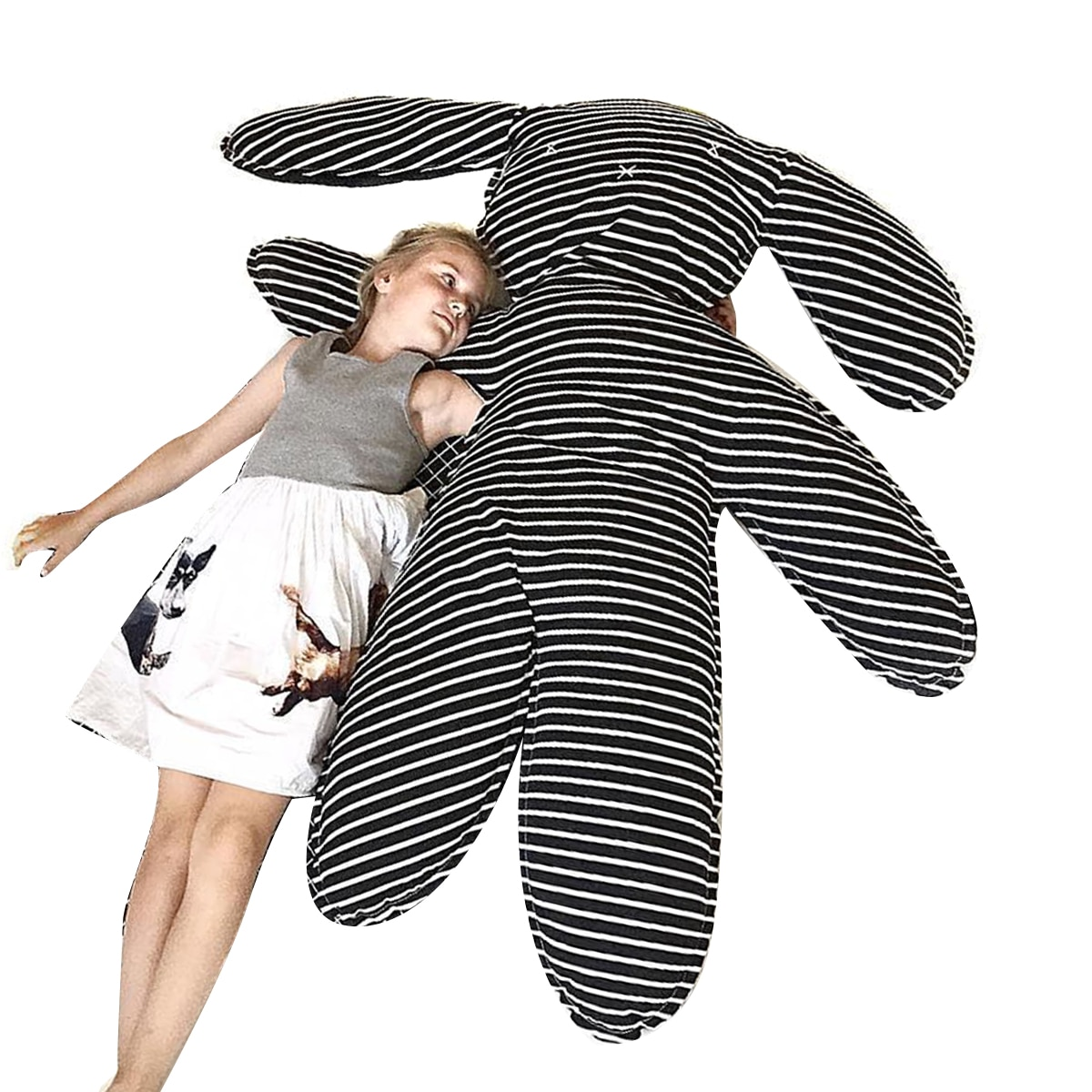 Hot Sale Super Big Gray Rabbit Pillow Baby Cushion Baby accompany sleeping toys Children baby Photography props home decor