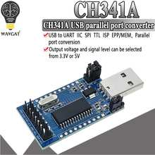 CH341 программист USB к UART IIC SPI I2C Конвертор параллельного порта Встроенный светодиодный модуль