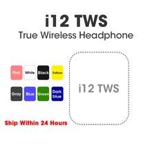 Écouteurs sans fil Bluetooth i12 TWS, commande Air Touch, oreillettes mains-libres, avec boîte de chargement, pour iOS et Android, originaux