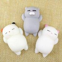 1 шт. антистрессовый мяч, мини-игрушка-сжималка, сжимаемая кошка, милая кукла-кавайка, сжимаемая стрейч-игрушка для исцеления животных, антис...