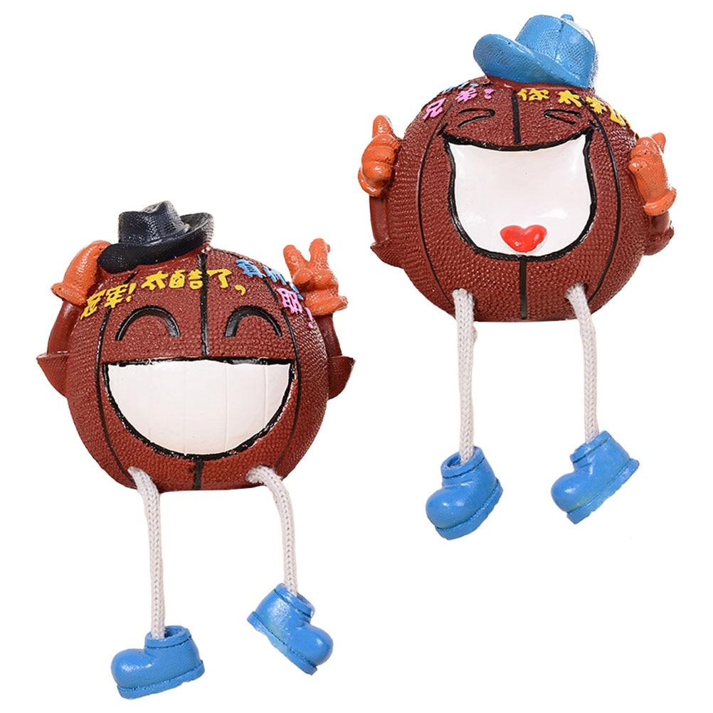 2pcs Decorative Cartoon Basketball Savings Pots Creative Desktop Ornaments