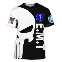 Tessffel Emergency Medical Service Technician EMT EMS Paramedic Hero New Fashion Unisex Casual 3DPrint Short Sleeve T-Shirts s-4