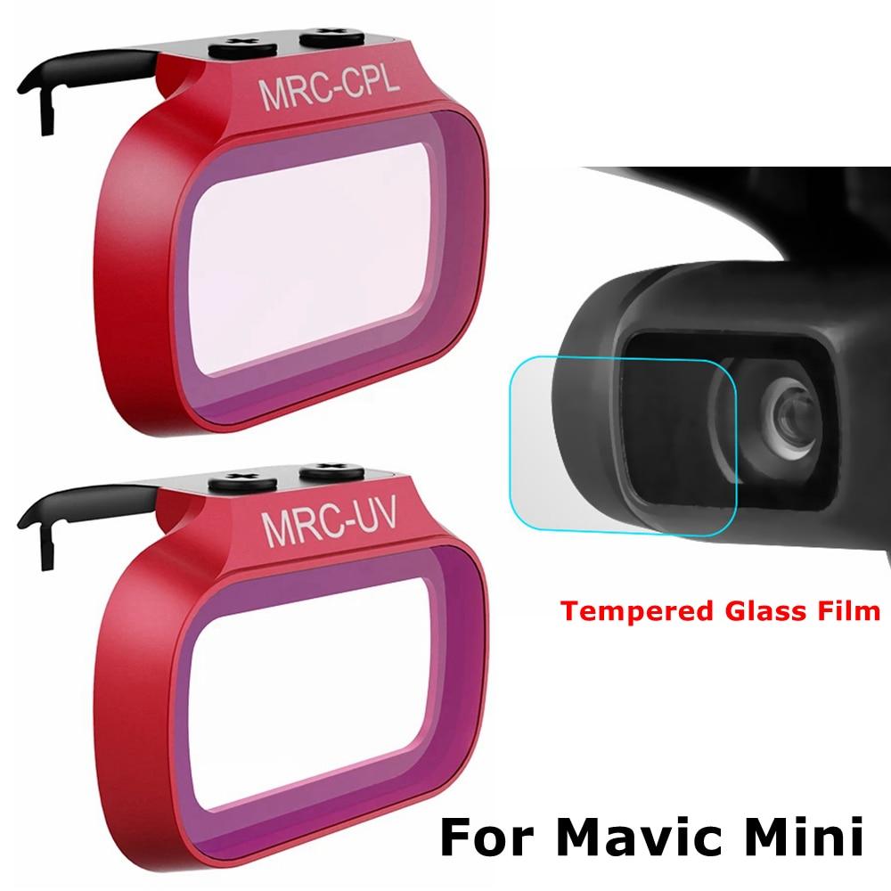 DJI Mavic Mini УФ-фильтр CPL Professional + Защитная пленка для объектива камеры из закаленного стекла