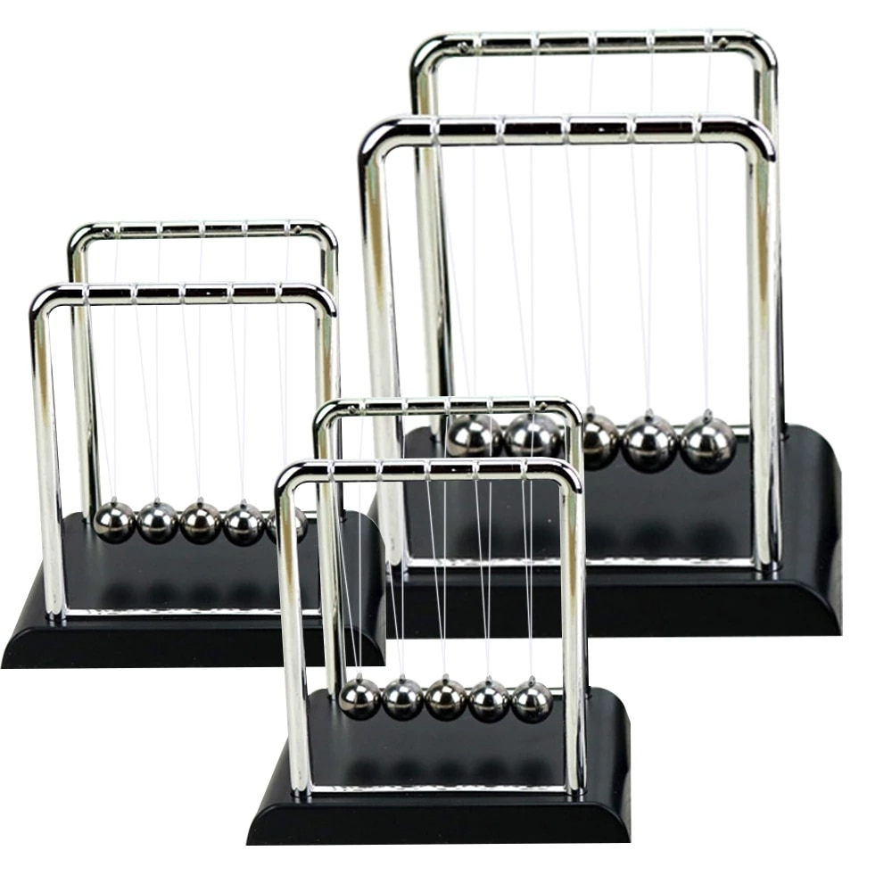 2021 New Early Fun Development Educational Desk Toy Gift Newtons Cradle Steel Balance Ball Physics Science Pendulum Toy Gift enlarge