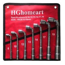 Auto Reparatur Werkzeuge Steckschlüssel Set 8-19MM Spanner Buchse Auto Schlüssel Hand Werkzeug Werkzeuge Garage Set Buchse schlüssel