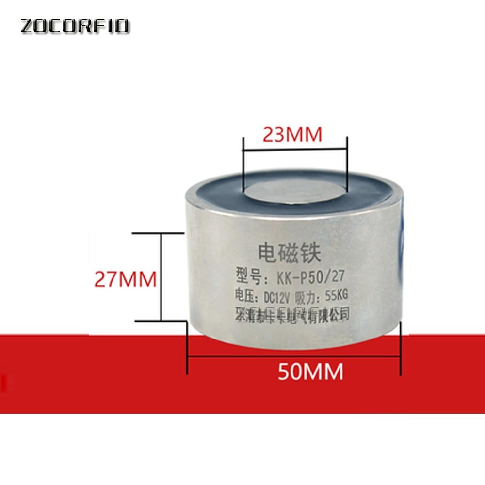 Electroimán de fuerza de sujeción P50/27 CC 50KG(500N)/50KG, succión magnética 12V o 24V