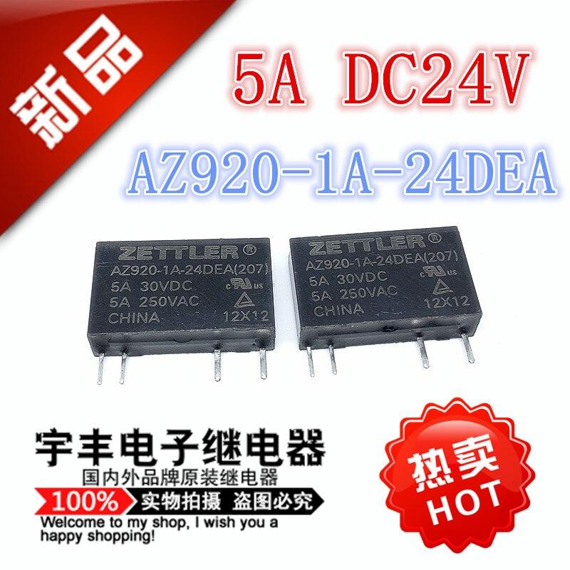 new original relay 10pcs lot myaa024d myaa024d 24vdc 24v 5a 4pin 10PCS/LOT  AZ920-1A-24DEA  5A 24VDC 24V 4  AZ920-1A-24DEA