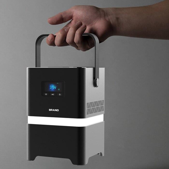 Mini Handle 5V/3.1A USB Output Power Generator Solar Portable 62500mAh enlarge