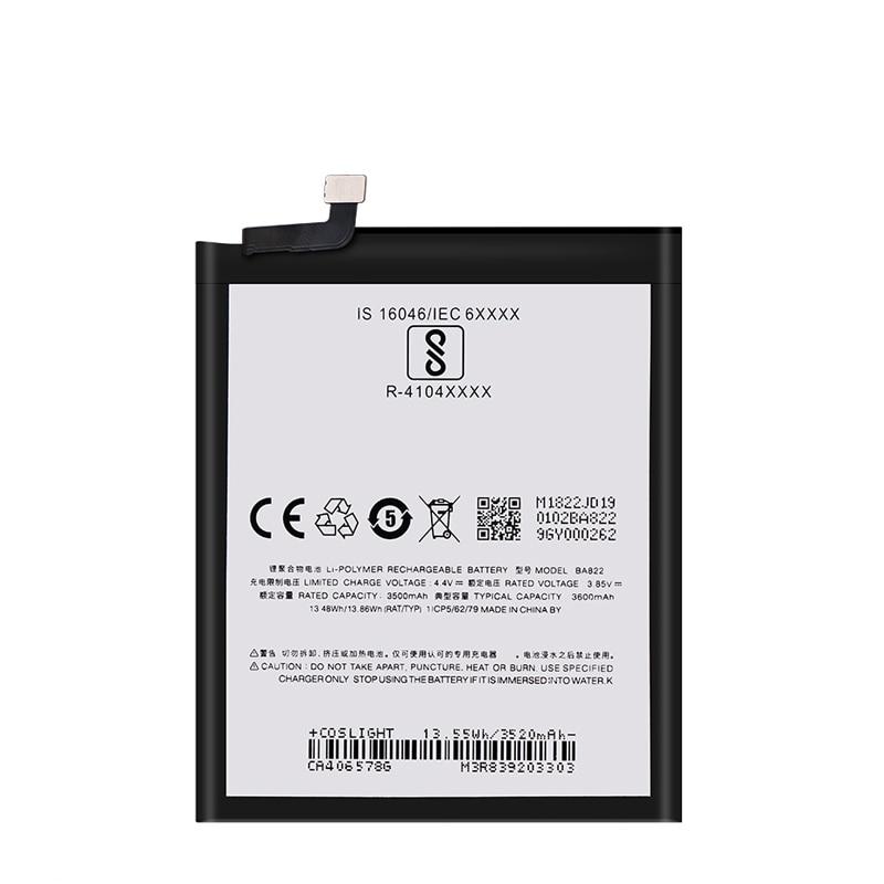 Original 3600mAh BA822 Replacement Batteries For Meizu Note 8 Note8 M822H M822Q Smartphone Mobile Phone Battery enlarge
