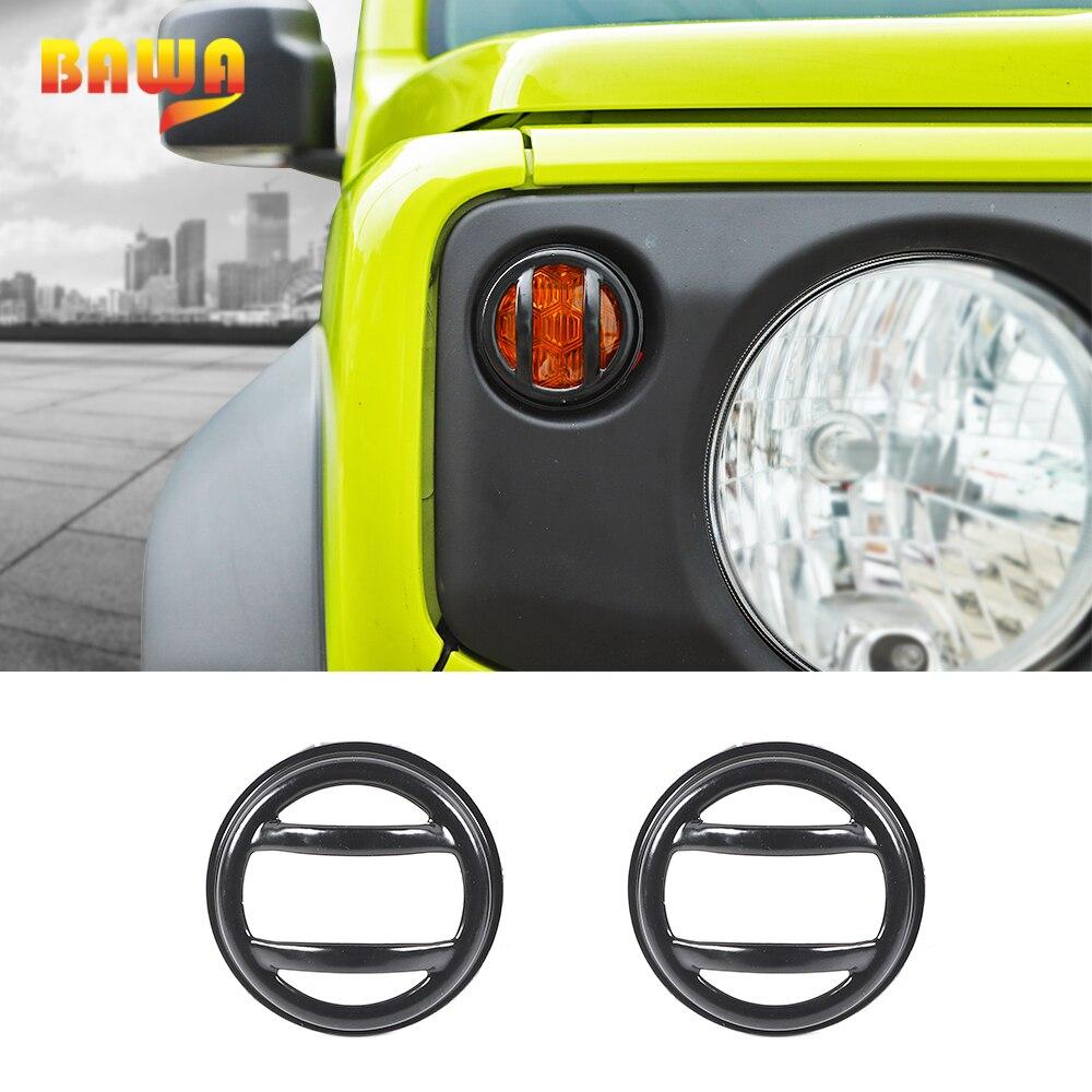 BAWA Car Metal Lamp Hoods for Suzuki Jimny JB74 2019+ Turn Signal Light Lamp Cover Accessories for Suzuki Jimny 2019 2020
