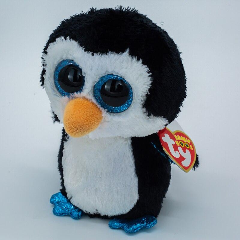15 см Ty Beanie плюша Животные игрушка в виде большого глаза мягкие игрушки Уоддл черный пингвин, лиса Единорог куклы игрушки для детей, подарок д... мягкие игрушки orbys пингвин 15 см