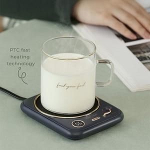 Retro Coffee Cup Warmer with Timer Hiqh Quality Coffee Mug Warmer Plate for Cocoa Tea Water Milk Birthday Christmas Gift