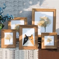 american retro photo frame horizontal vertical wall hanging simple rectangle resin picture frame for wall desk layout home decor