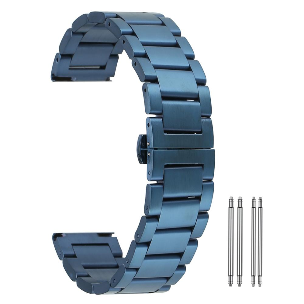 Relógio de pulso pulseira 20mm relógios cinta fecho pulseira 22mm relógio de pulso banda aço inoxidável 18mm 24mm citurini di acciaio por orologi
