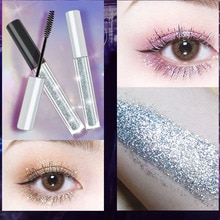Iflovedekd diamant étincelant brillant charme Mascara étanche cils professionnel eye liner friser lallongement