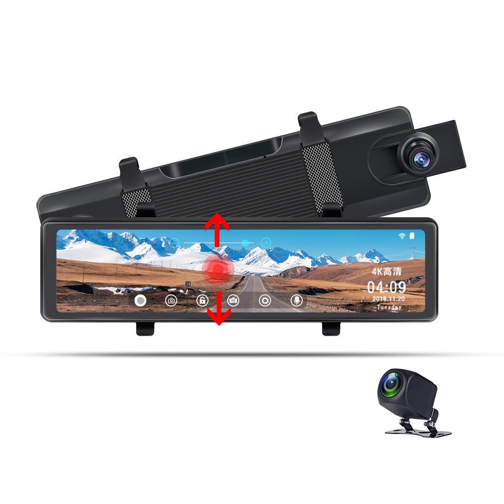 Автомобильный видеорегистратор 4K, видеорегистратор с Wi-Fi, зеркало заднего вида Ultra-HD, Автомобильный видеорегистратор, парковочный монитор, ...