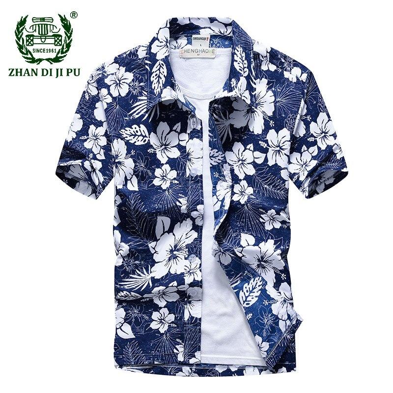 Homens impresso havaiano praia camisa verão manga curta 5xl secagem rápida camisas florais masculino férias roupas chemise homme