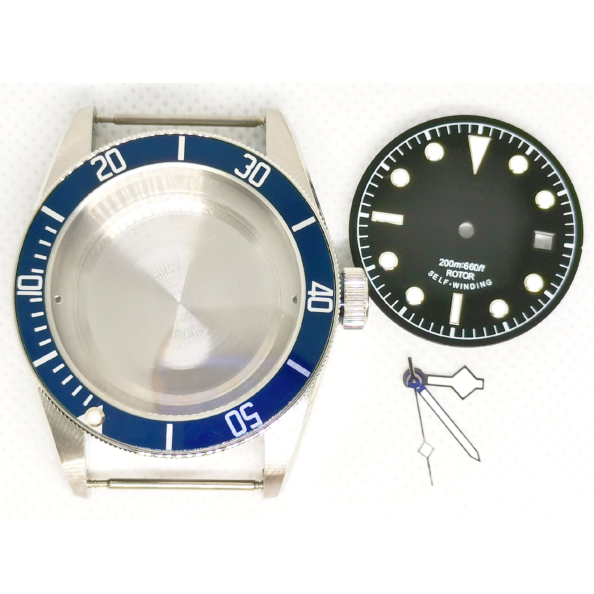 40MM  Man's Watch 316 Stainless Steel Case Dial And Hands Set For Automatic Movement ETA 2836 ST2130 enlarge