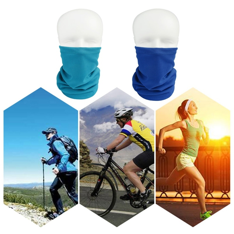 1Pc Solid Color Outdoor Sport Hiking Scarves Breathable Hiking Magic Scarf Bandana Riding Sweat Abso
